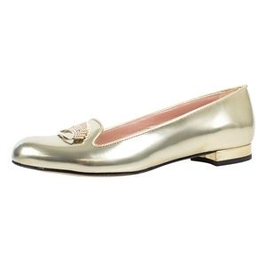 RED VALENTINO  Gold Metallic Ballet Shoes 7/37